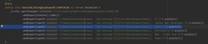 Java Assign 3 testJobListingDisplayAllJobFields Cozy